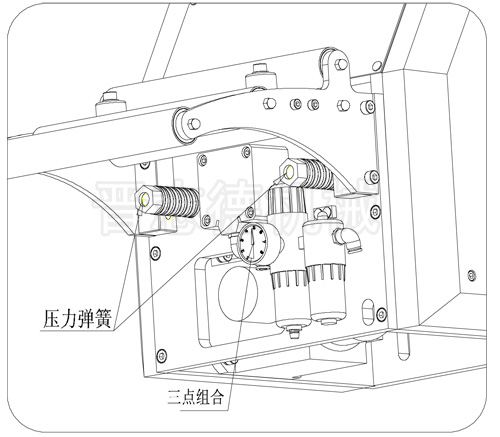NC送料机压力弹簧调整,NC送料机调整