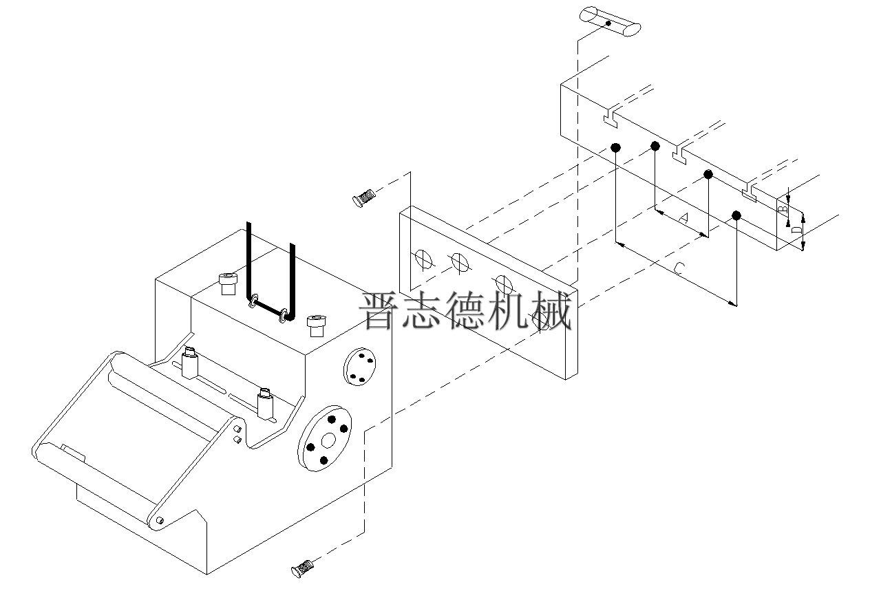 协易冲床安装nc伺服送料机的方法